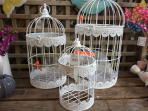White birdcages 3 different sizes